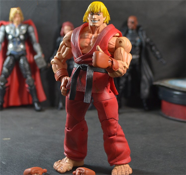 Street Fighter V Action Figure Ken Games Gears